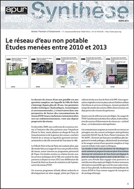 Synthèse - Le réseau d'eau non potable – Études menées entre 2010 et 2013 © Apur