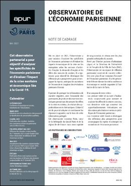 Couverture - Observatoire de l'économie parisienne - Note de cadrage © Apur