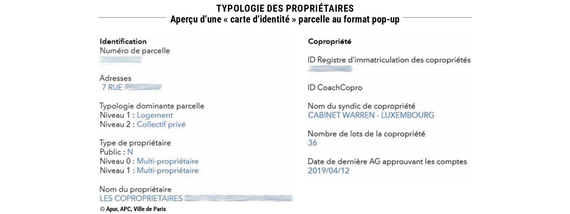 Typologie des propriétaires © Apur