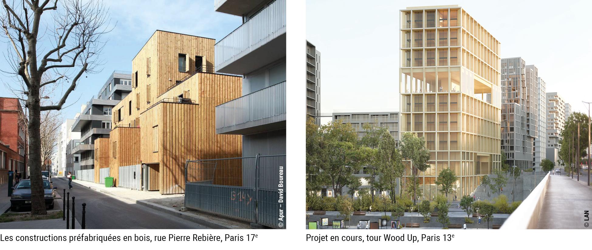 Les constructions préfabriquées en bois © Apur