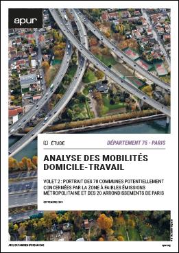 Couverture - Volet 2 : Département 75 - Paris - Portrait des 78 communes potentiellement concernées par la zone à faibles émissions métropolitaine et des 20 arrondissements de Paris © Apur