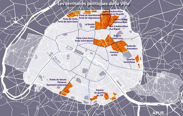 Les Quartiers Politique De La Ville Apur Paris