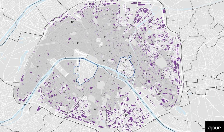 Les logements sociaux à Paris au sens de la loi SRU