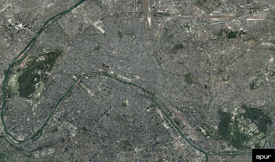 Paris, vue du ciel © photo aérienne - 2015 Aérodata