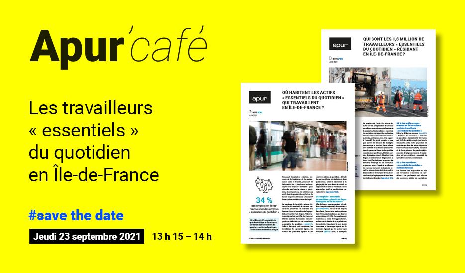 """Les travailleurs """"essentiels"""" du quotidien en Île-de-France © Apur"""