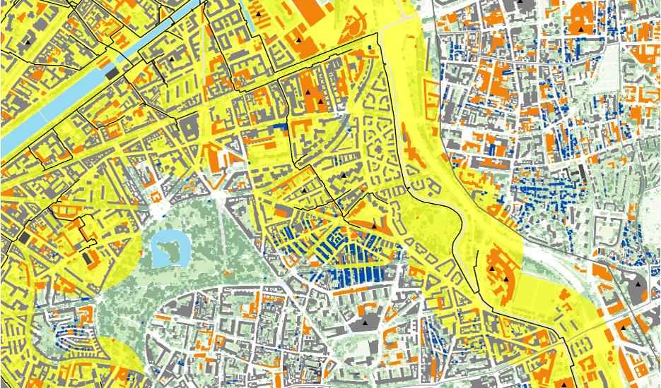 Extrait de l'application cartographique sur l'énergie ©Apur