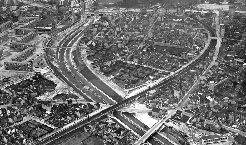 Building the A6 motorway in 1960 © Archives des Ponts et Chaussées – Robert Durandaud