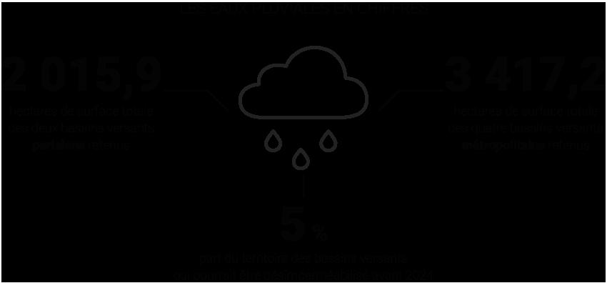 Les eaux pluviales en chiffres © Apur
