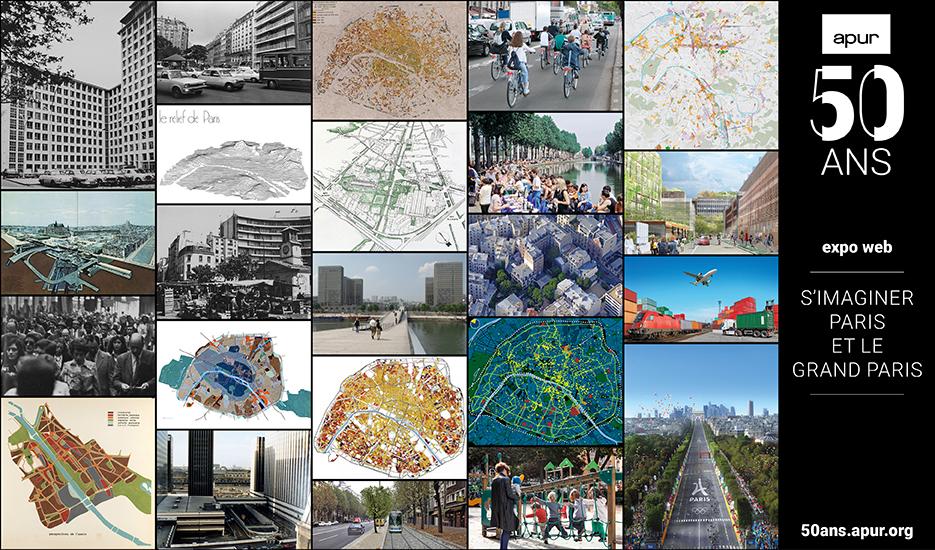 L'exposition web « S'imaginer Paris et le Grand Paris » © Apur