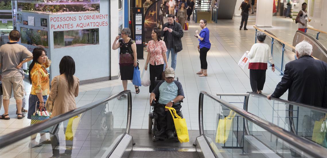Accessible by escalator - © Jean-Baptiste Gurliat / Mairie de Paris