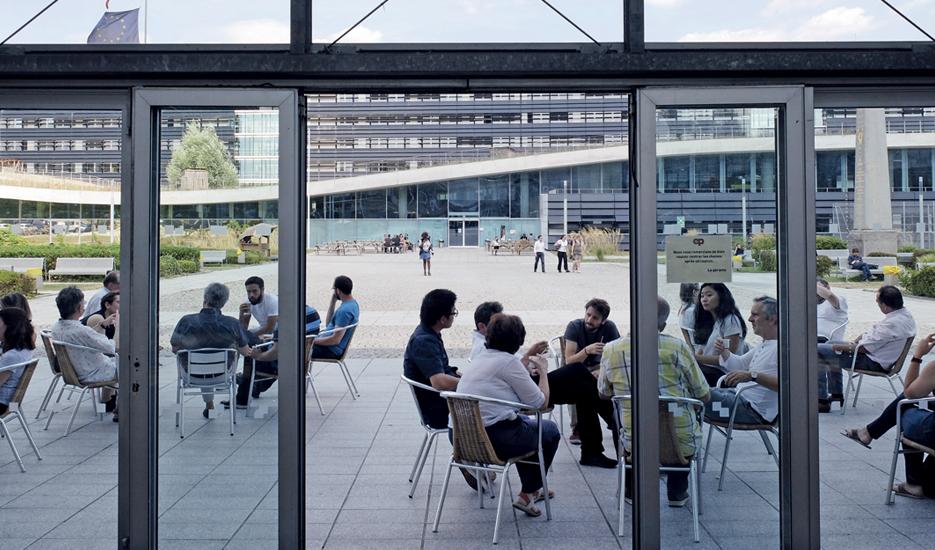 Noisy-Champs, UPEC, cafétéria de l'Ecole Nationale des Ponts et Chaussées © Apur