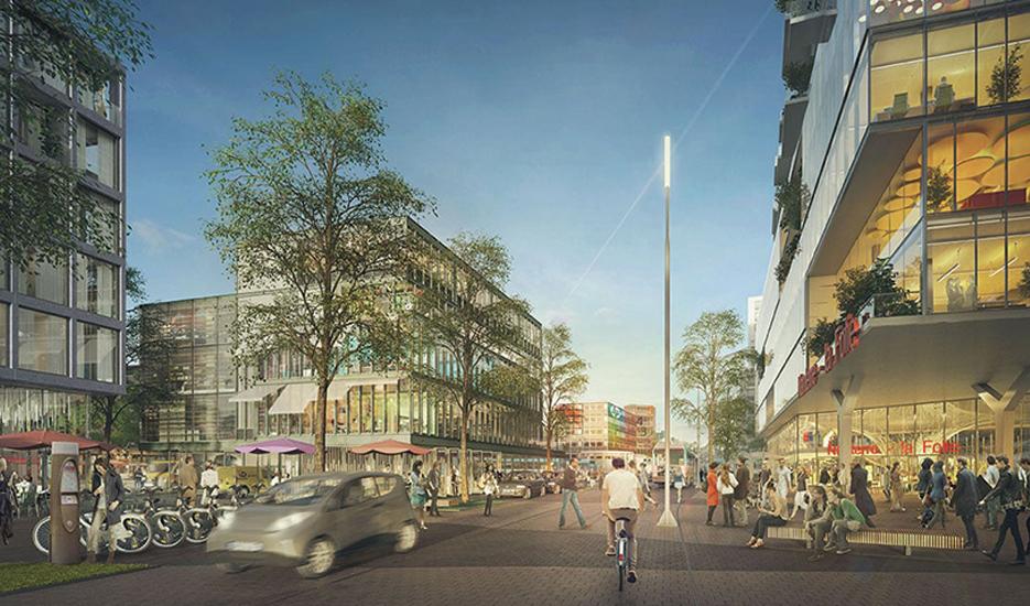 Le projet urbain des Groues, quartier de gare de Nanterre la Folie (ligne 15 ouest) © Paris La Défense / Güller Güller architecture urbanism / A2 Studio