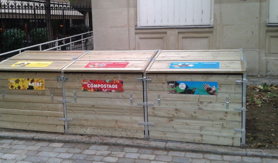 Gare de Reuilly neighbourhood composter, Paris 12th district © Apur