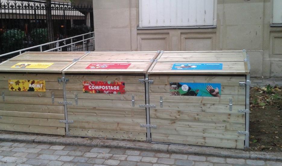Composteur de quartier de la gare de Reuilly, Paris 12e © Apur