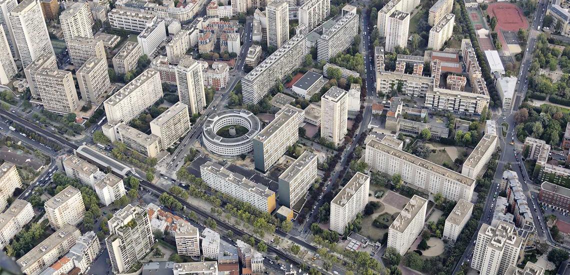 Paris 13 : Boulevard Vincent Auriol, Nationale - © ph.guignard@air-images.net