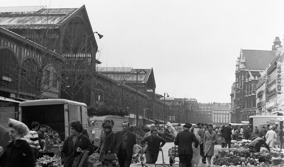 Vue sur le marché des Halles © Apur