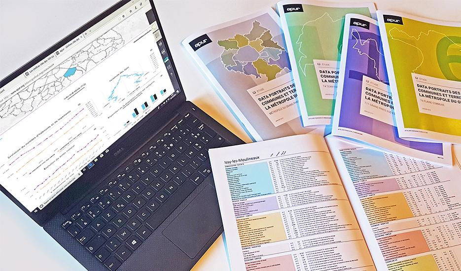 Data portraits of municipal communes and territories in the Greater Paris -Métropole du Grand Paris- © Apur