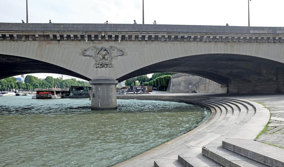 Emmarchement – Pont de l'Iéna © Apur
