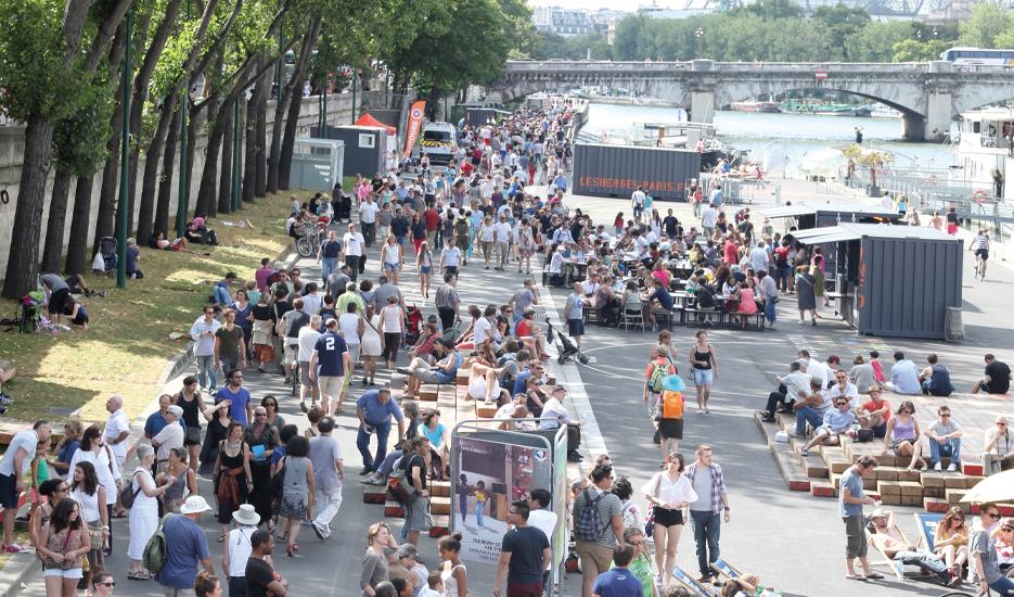 Berges de Seine - rive gauche vues des installations et animations juillet 2013 © Apur – David Boureau