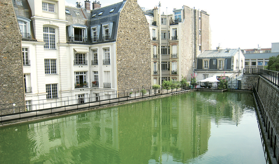 View of the Passy non-drinkable water reservoir in Paris © Apur