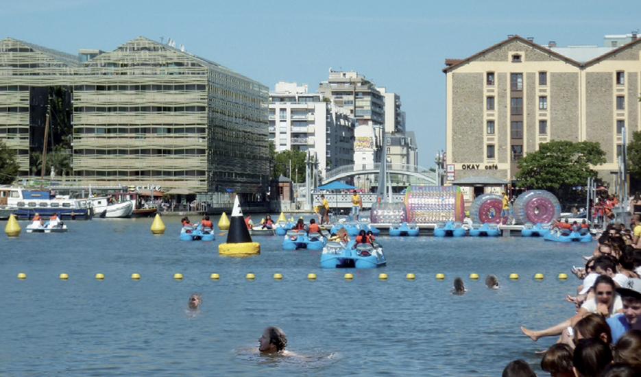 Le bassin de la Villette demain ? (photo montage Apur)
