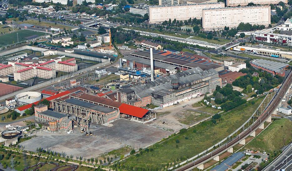 Vue aérienne du site des anciennes Papeteries de Nanterre © Ph.Guignard/air-images.net