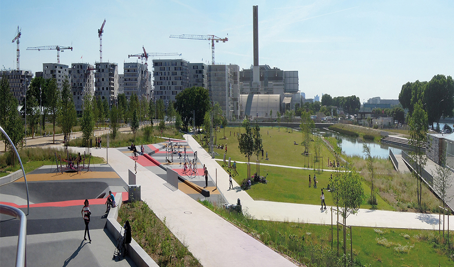 Park in the Saint-Ouen Docks Mixed Development Zone  © Agence TER