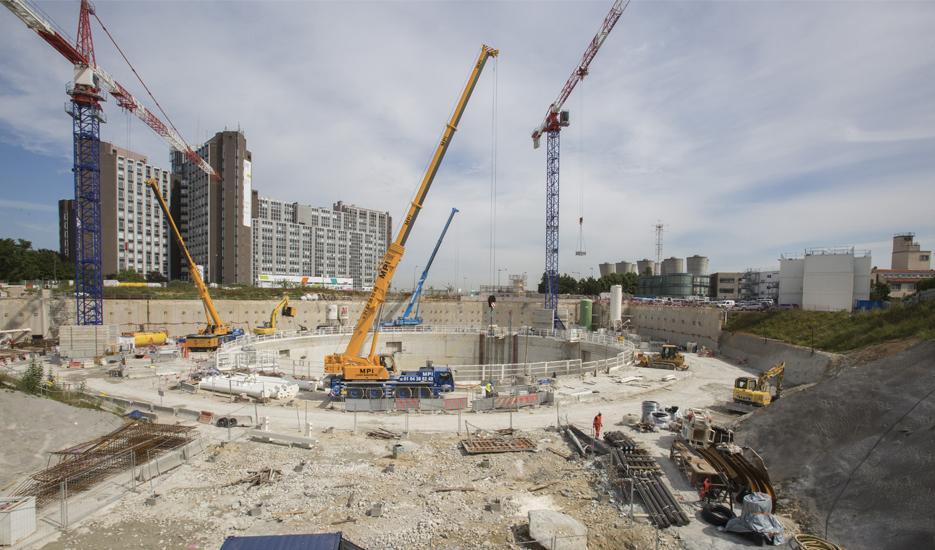 View of a building site in one of the future Grand Paris Express stations © Société du Grand Paris / David Delaporte