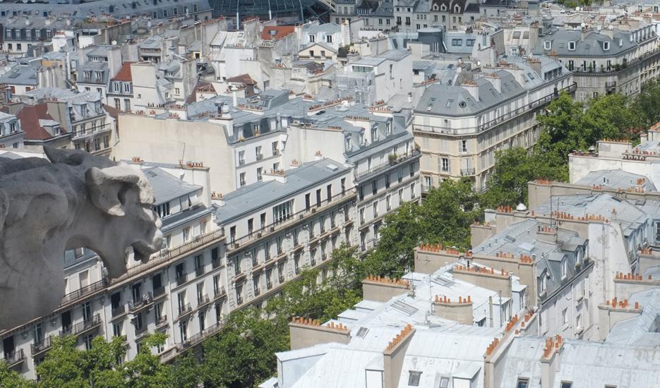 Vue sur le boulevard Sébastopol depuis la Tour Saint Jacques - Paris © Apur – Julien Bigorgne