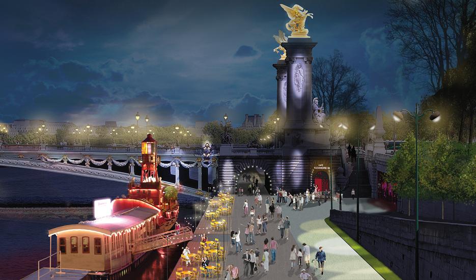 Pont Alexandre-III, projets d'aménagements et usages © Apur - JCh Choblet
