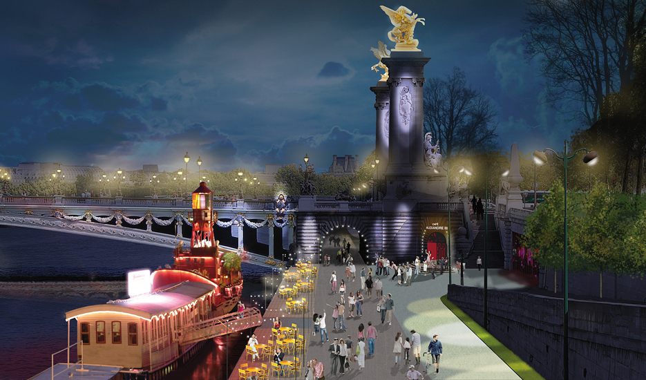 Pont Alexandre-III, development and use projects © Apur - JCh Choblet