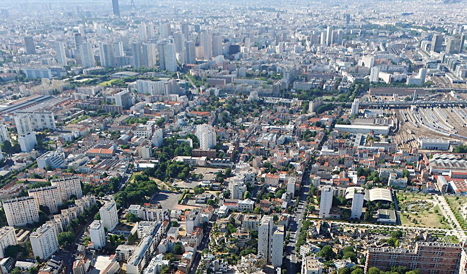Point de vue sur Ivry et la métropole © Ph.guignard@air-images.net