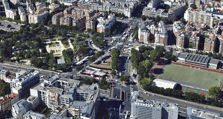 Vue aérienne sur la porte d'Orléans © Ph.Guignard@air-images.net