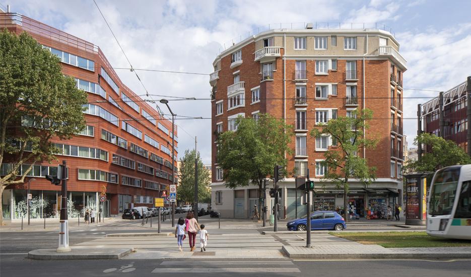 Boulevard Masséna : HBM et résidence sociale (13e arr.) © Apur - Arnauld Duboys Fresney