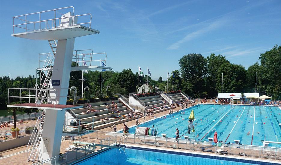 Vue sur la piscine de Nogent, Nogent-sur-Marne - Nogent-Le Perreux © Apur