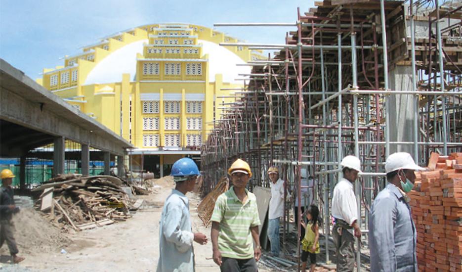 Le chantier de rénovation du Marché Central, 2009 / The Central Market renovation work site, 2009 © Apur