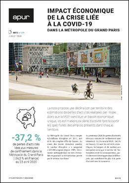 Impact économique de la crise liée à la Covid-19 dans la Métropole du Grand Paris – Couverture © Apur