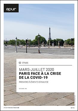 Couverture - Mars - juillet 2020, Paris face à la crise de la COVID-19 © Apur