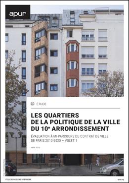 Couverture – Les quartiers de la politique de la ville du 10e arrondissement © Apur