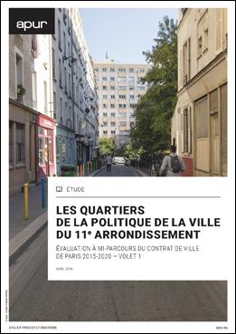 couverture – Les quartiers de la politique de la ville du 11e arrondissement © Apur