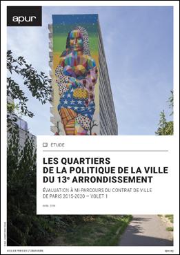 couverture – Les quartiers de la politique de la ville du 13e arrondissement © Apur