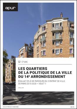 couverture – Les quartiers de la politique de la ville du 14e arrondissement © Apur