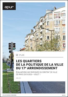 couverture – Les quartiers de la politique de la ville du 17e arrondissement © Apur