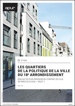 couverture – Les quartiers de la politique de la ville du 18e arrondissement © Apur