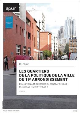 couverture – Les quartiers de la politique de la ville du 19e arrondissement © Apur