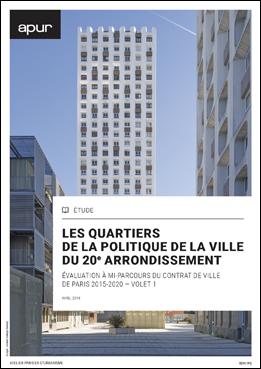 couverture – Les quartiers de la politique de la ville du 20e arrondissement © Apur