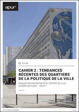 couverture - Cahier 2 : tendances récentes des quartiers de la politique de la ville © Apur