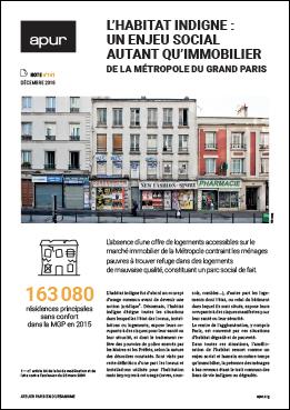 Couverture - L'habitat indigne : un enjeu social autant qu'immobilier de la Métropole du Grand Paris © Apur