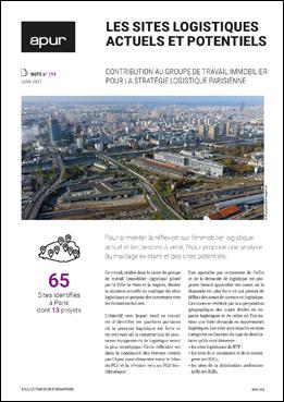 Couverture - Les sites logistiques actuels et potentiels © Apur