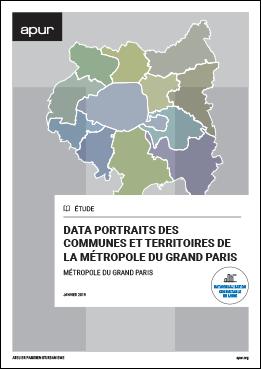 Couverture - Data portraits des communes et territoires de la Métropole du Grand Paris © Apur